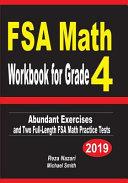 FSA Math Workbook for Grade 4  Abundant Exercises and Two Full Length FSA Math Practice Tests PDF