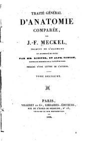 Traité général d'anatomie comparée: précédé d'une lettre de l'auteur, Volume2