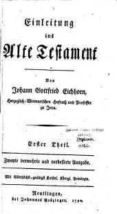 Einleitung ins Alte Testament: Band 1