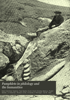 Pamphlets in Philology and the Humanities Book