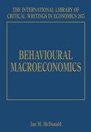 Behavioural Macroeconomics