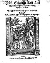 Das Evangelion am ersten Sontag in der Fasten mit der Außlegung Mathei (etc.)