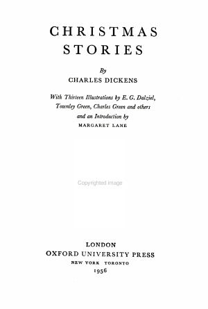 The New Oxford Illustrated Dickens: Christmas stories