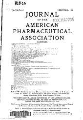 Journal of the American Pharmaceutical Association: Volume 9, Issue 2