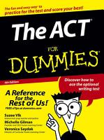 The ACT For Dummies PDF