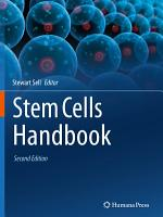 Stem Cells Handbook PDF