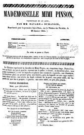 Mademoiselle Mimi Pinson: vaudeville en 1 acte, Volume15;Volume18