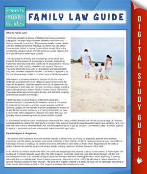 Family Law Guide  Speedy Study Guide