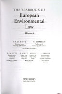 Yearbook of European Environmental Law