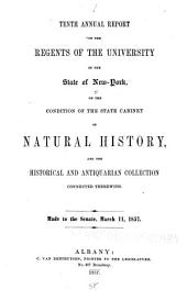 Annual Report of the Regents of the University on the Condition of the State Cabinet of Natural History, with Catalogues of the Same: Volumes 10-13
