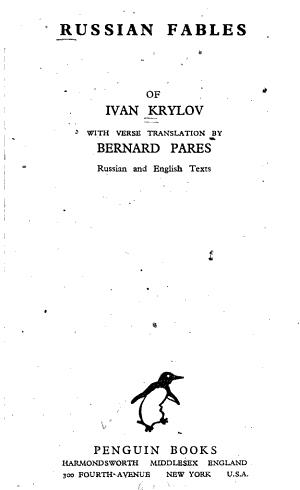 Russian Fables of Ivan Krylov