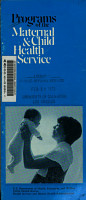 Programs of the Maternal   Child Health Service PDF