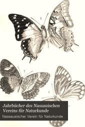 Jahrbücher des Nassauischen Vereins für Naturkunde: Bände 49-51