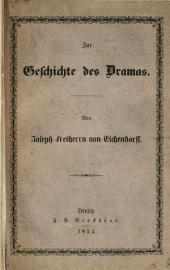 Zur Geschichte des Dramas