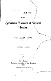 A List of the Genera and Subgenera of North American Birds, with Their Types, According to Article 30 of the International Code of Zoölogical Nomenclature
