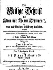 Die Heil. Schrift, nebst einer vollstaendigen Erklaerung derselben aus den Anmerkungen Englaend. Schriftsteller: Band 16