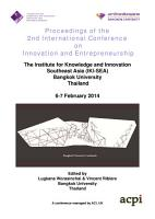 Proceedings of the 2nd International Conference on Innovation and Entrepreneurship PDF