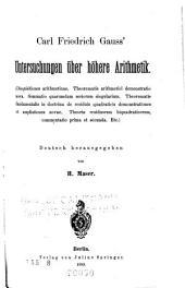 Carl Friedrich Gauss' Untersuchungen ?ber H?here Arithmetik