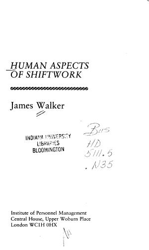 Human Aspects of Shiftwork PDF
