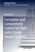 Formation and Containment Control for High order Linear Swarm Systems PDF