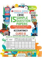 Oswaal CBSE Sample Question Paper Class 12 Accountancy (For 2020 Exam)