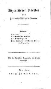 Bd. Mariane. Das poetische Schloss. Die Geister-insel. Eine Kantate auf Maria Theresia pr. v. Fr