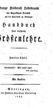 Handbuch der reinen Größenlehre: Band 2