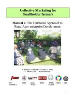 Collective marketing for smallholder farmers   Manual 4  The territorial approach to rural agro enterprise development PDF