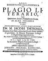 Dissertatio philosophica de plagio literario