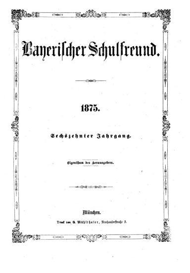 Bayerischer Schulfreund PDF