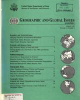 Geographic and Global Issues Quarterly PDF