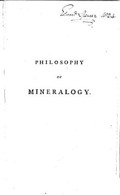 Philosophy of Mineralogy