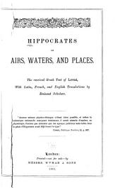 Hippocrates on Airs, Waters, and Places