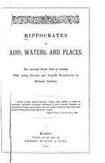 Hippocrates on Airs  Waters  and Places PDF
