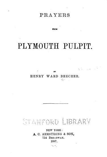 Prayers from Plymouth Pulpit PDF