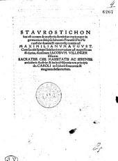 STAVROSTICHON hoc est carmen de mysteriis dominicae crucis nuper in germaniam delapsis
