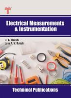 Electrical Measurements and Instrumentation PDF