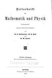 Zeitschrift für Mathematik und Physik: Band 5