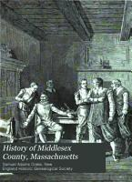 History of Middlesex County  Massachusetts PDF