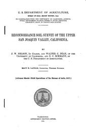 Reconnoissance soil survey of the upper San Joaquin Valley, California