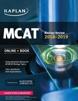 MCAT Biology Review 2018 2019 PDF