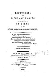 Letters for Literary Ladies, etc. By M. E.