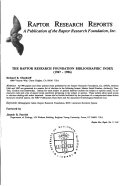 The Raptor Research Foundation Bibliographic Index  1967 1986  PDF