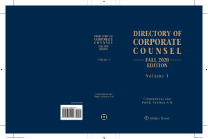 Directory of Corporate Counsel  Fall 2020 Edition  2 vols