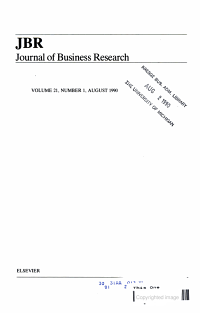 JBR JOURNAL OF BUSINESS RESEARCH