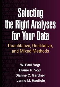 Selecting the Right Analyses for Your Data PDF