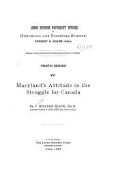 Maryland's Attitude in the Struggle for Canada