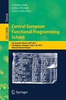 Central European Functional Programming School PDF