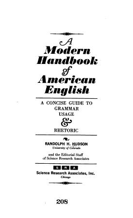 A Modern Handbook of American English PDF