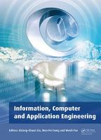Information  Computer and Application Engineering PDF